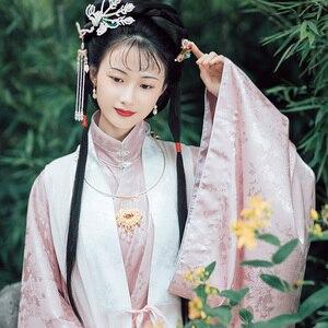 Классический танцевальный костюм для женщин Hanfu, праздничный костюм с вышивкой, розовая одежда для выступлений, женское народное платье феи...