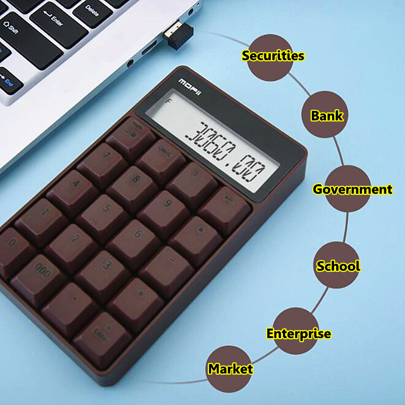 Numeric Keyboard Calculator Office Electronic LCD Mini Digital Keypad For Enterprise Government School Securities Market Bank