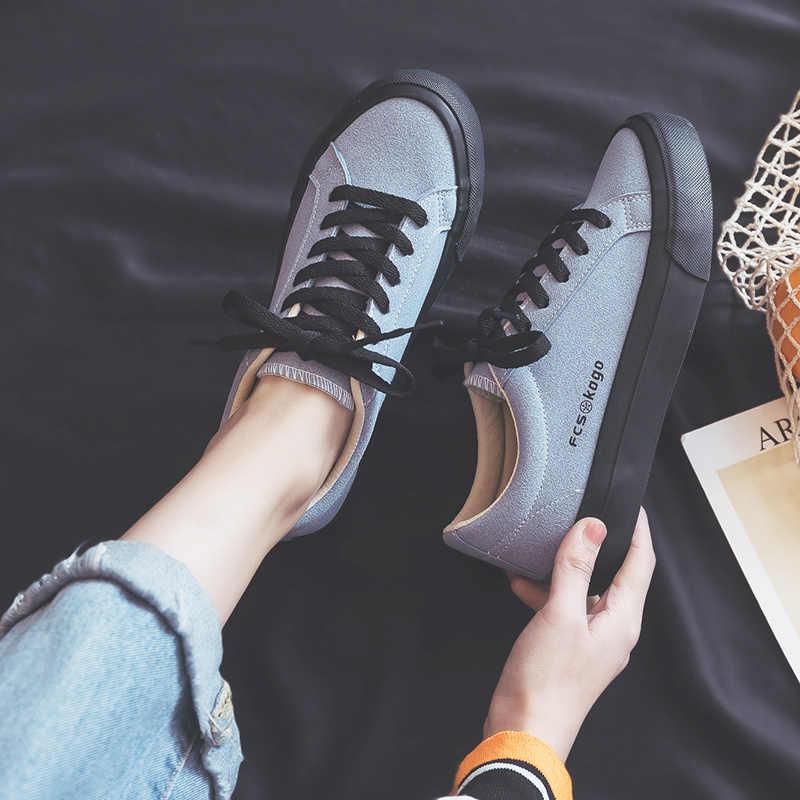 Pus mavi kanvas ayakkabılar kadınlar için 2020 yeni öğrenciler Ulzzang spor salonu ayakkabısı Retro Sneakers pembe bahar sonbahar düşük en iyi kalite
