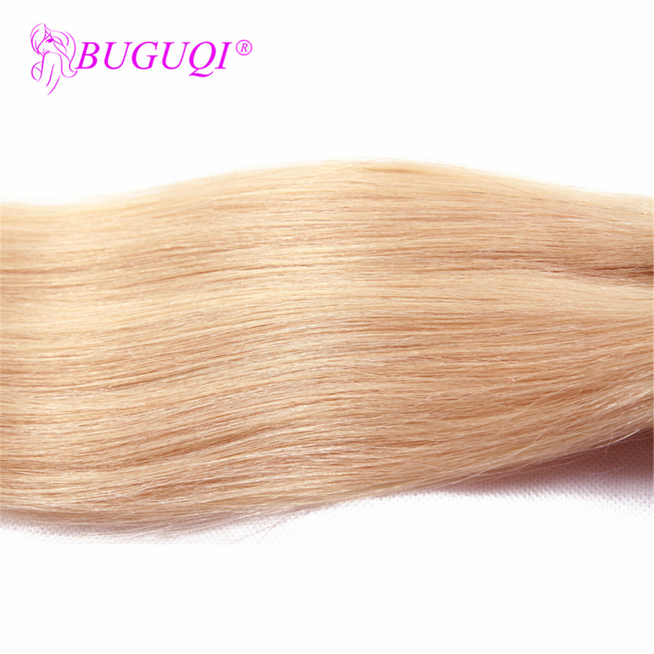 BUGUQI Hair Clip In Human Hair Extensions Brazilian #613 Remy 16- 26 Inch 100g Machine Made Clip Human Hair Extensions
