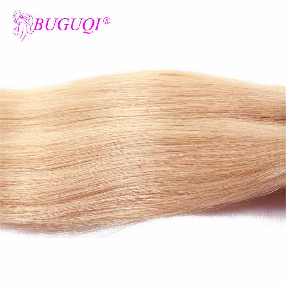 BUGUQI spinka do włosów w doczepy z ludzkich włosów Indian #613 Remy 16- 26 Cal 100g maszyna wykonana klip doczepy z ludzkich włosów