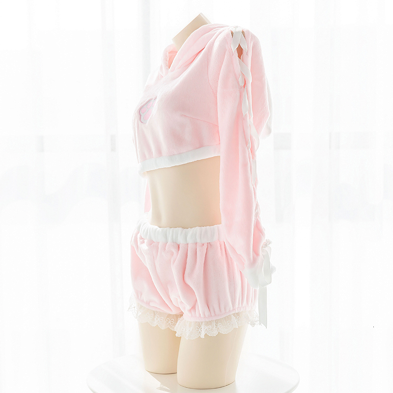 Sexy Pink Bunny Girl Homewear 3