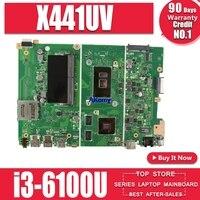 X441uv placa-mãe para For Asus x441u x441uv portátil placa-mãe notebook i3-6100 pm original placa-mãe teste ok