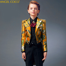 Boys Dress Tuxedo Boys Suits Catwalk Piano Costume Garcon Children Boys Suits For Weddings Boys Prom Suits trajes de comunion