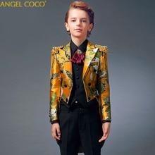 男の子ドレスタキシードスーツキャットウォークピアノ衣装ギャルソン子供男の子は結婚式男の子ウェディングスーツ trajes デ comunion