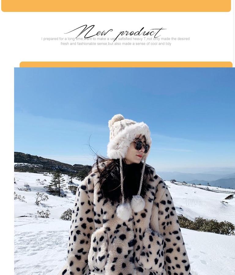 H06999e2a0a844a8db787e5566adf1519Q Plush jacket women winter short 2021 new Korean version of loose lamb wool faux fur leopard print fur coat women winter