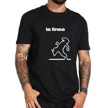 Camiseta de Balum La Linea, playera con gráfico divertido de gran montaña espacial, Tops de talla europea, Camisetas suaves de algodón 100%