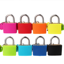 Pcs 32*23MM 4 Colors Mini Small Padlock Travel Suitcase Luggage Bag Lock Padlocks With 2 Keys Set Hardware Tool Free Shipping small mini lock solid plastic case copper padlock travel tiny suitcase and lock with 2 keys have 8 colors home accessories