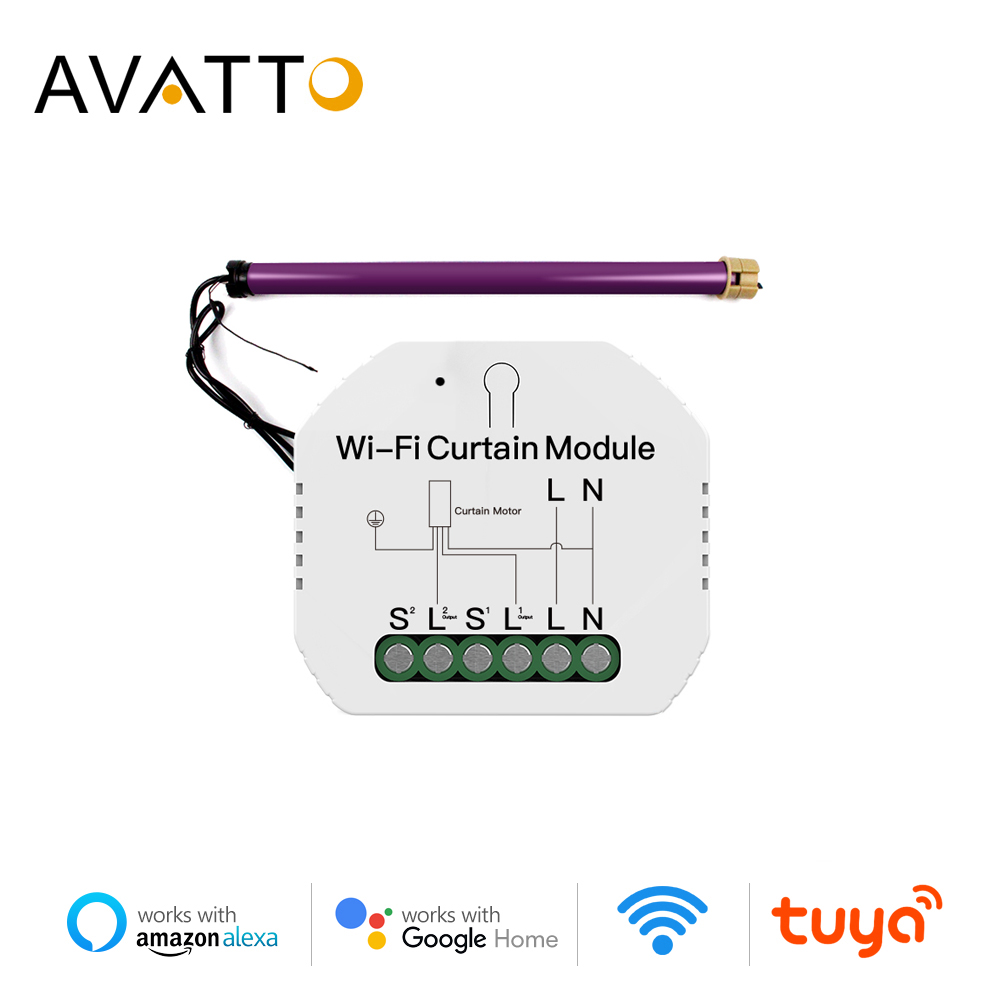 AVATTO WiFi Curtain Switch Module,Remote Voice Control Roller Shutter Motor Switch Work With Tuya Smart Life Alexa Google Home