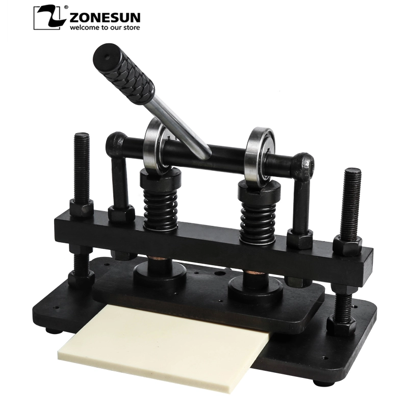 ZONESUN 26x12 см двухколесная ручная машина для резки кожи, фотобумага, ПВХ, Эва лист, форма, машина для высечки кожи