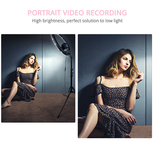 Image 5 - SAMTIAN ring light 14 inch ring lamp dimmable 384PCS LED lighting With tripod for Studio photography YouTube makeup ringlight