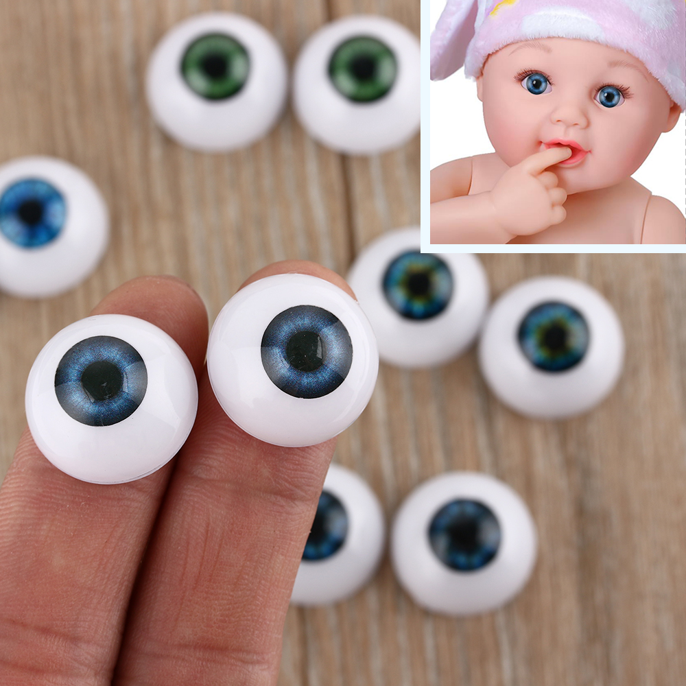 11 MM poupée en peluche poupée yeux demi-rond Acrylique yeux pour poupée ours Crafts