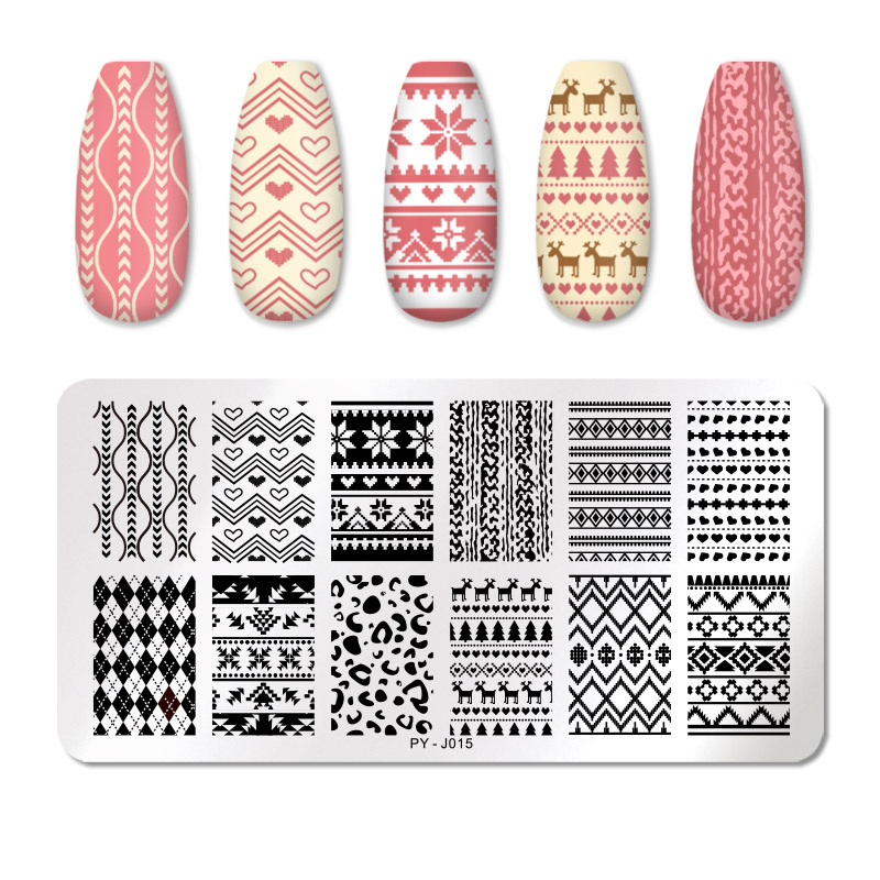 PICT YOU 12*6cm Nail Art Templates Stamping Plate Design Flower Animal Glass Temperature Lace Stamp Templates Plates Image 48