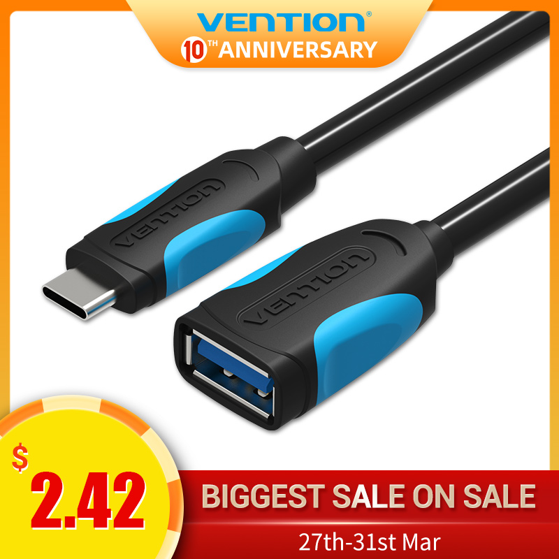 Vention USB C To USB OTG Cable Adapter For Xiaomi 5 Nexus 5X 6P USB Type C OTG Cable For Huawei P9 Plus Samsung USB Type-c OTG