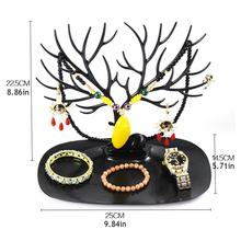 Creative Small Antlers Tree Jewelry Storage Box Earrings Bracelet Necklace Bracelet Display Stand(China)