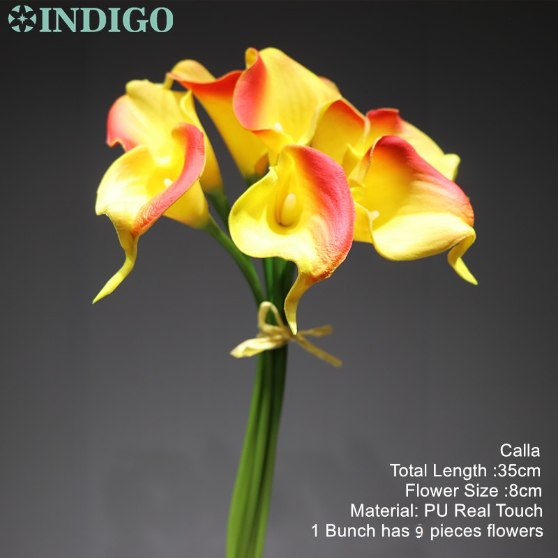 Calla Lily – Mini Size PU Real Touch Calla Home Decorative Flower Artificial Flower Wedding Flower Party Hotel Office Calla Lily