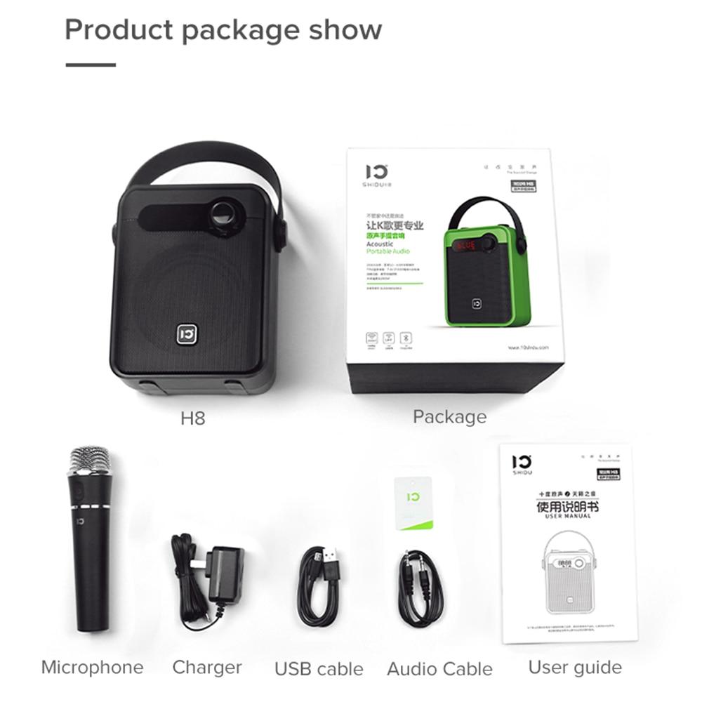SHIDU 25 Вт портативный усилитель голоса портативный беспроводной микрофон аудио Bluetooth караоке динамик AUX запись TWS FM радио H8