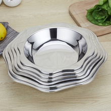 Thickened Octagonal Basin Stainless Steel Lobster Plate Wholesale Creative Commercial Seafood