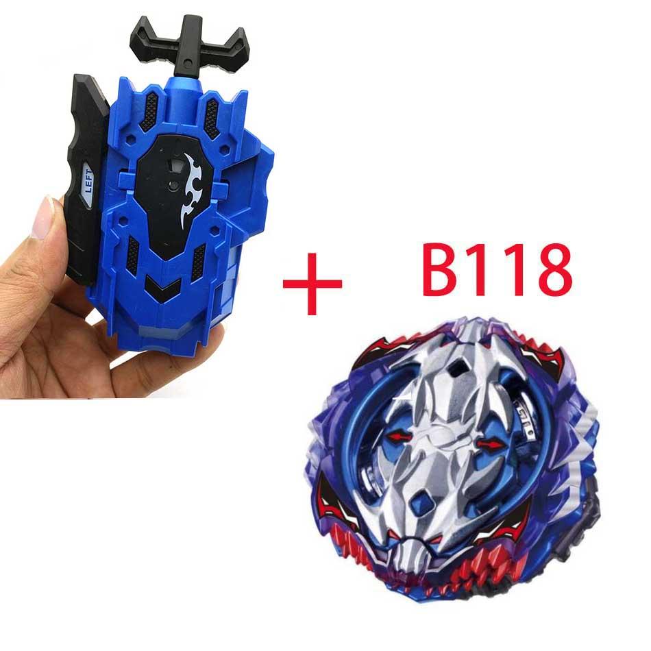 Волчок Beyblade BURST B-130 B-117 с пусковым устройством Bayblade Bay blade металл пластик Fusion 4D Подарочные игрушки для детей - Цвет: B118