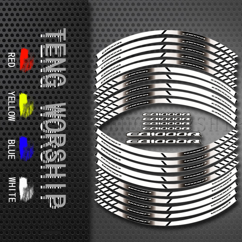 For HONDA CB1000R Motorcycle Tyre 20X Sign Decoration Sticker Inner Rim Reflective Decals CB 1000R