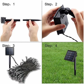 200 Led Solar Garland String Fairy Lights Outdoor 22M Solar Powered Lamp for Garden Decoration 3 Mode Holiday Xmas Wedding Party 6