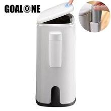 цена на Nordic Trash Can Oval Bathroom Waste Bin Plastic Garbage Bucket Kitchen Toilet Bedroom Office Trash Bin with Garbage Bag Holder