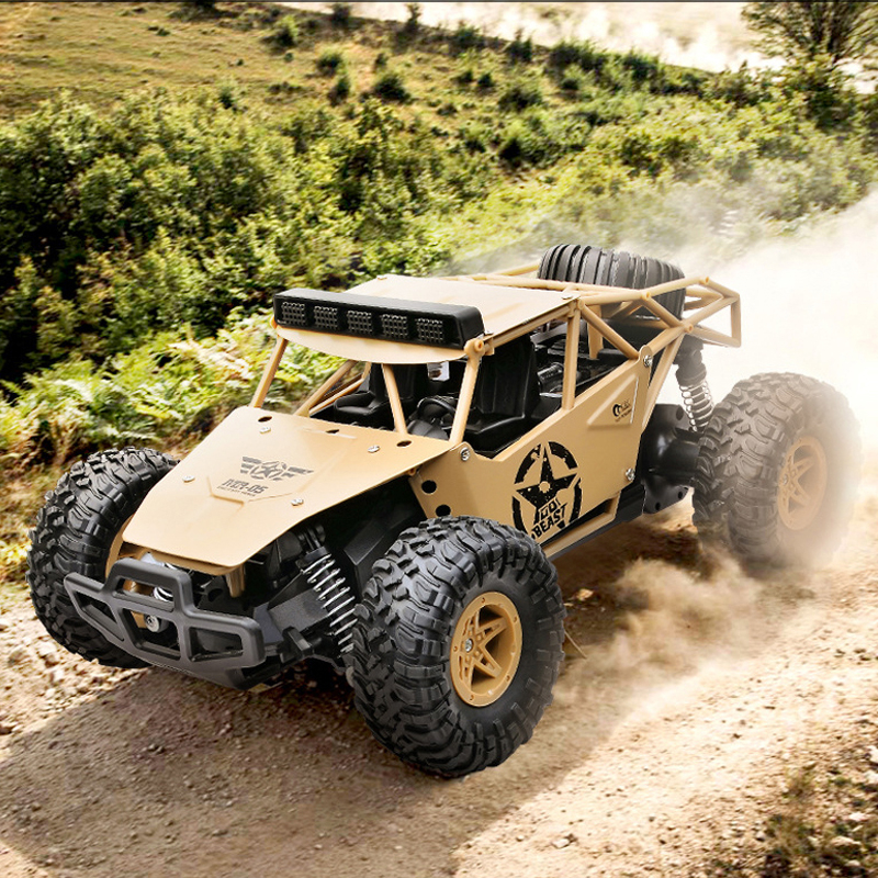 BG1527 2.4Ghz RC Car 1/16 Alloy Off-Road Climbing Remote Control Cars Electric High-Speed Military Truck Big Foot RC Toy For Boy