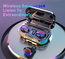 M12 tws bluetooth5.0 fones de ouvido sem fio fone alta fidelidade ipx7 à prova dwaterproof água controle toque fone para esporte & jogo