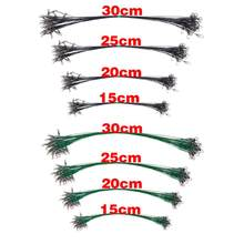 3PC Anti Bite Fishing Line Steel Front Wire Leader with Swivel Fishing Wire Core Leash Fishing Accessories 15/20/25/30cm(China)