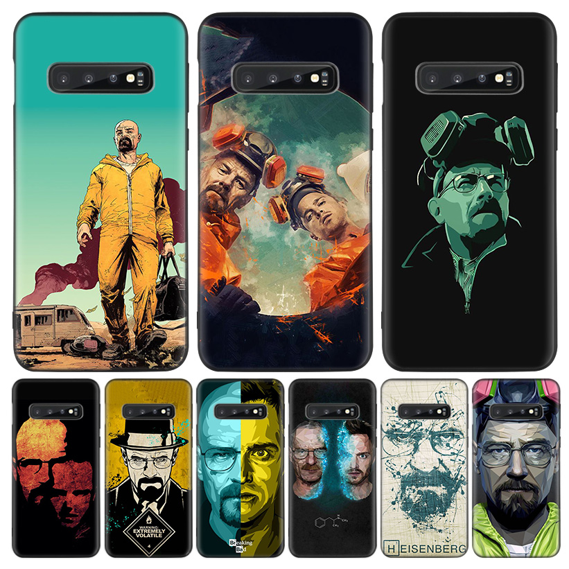 Breaking bad Black Cover <font><b>Phone</b></font> <font><b>Case</b></font> for <font><b>Samsung</b></font> Galaxy S20 Ultra S10E Note 10 9 8 S9 S8 J4 J6 + Plus S7 <font><b>S6</b></font> Capa Coque image