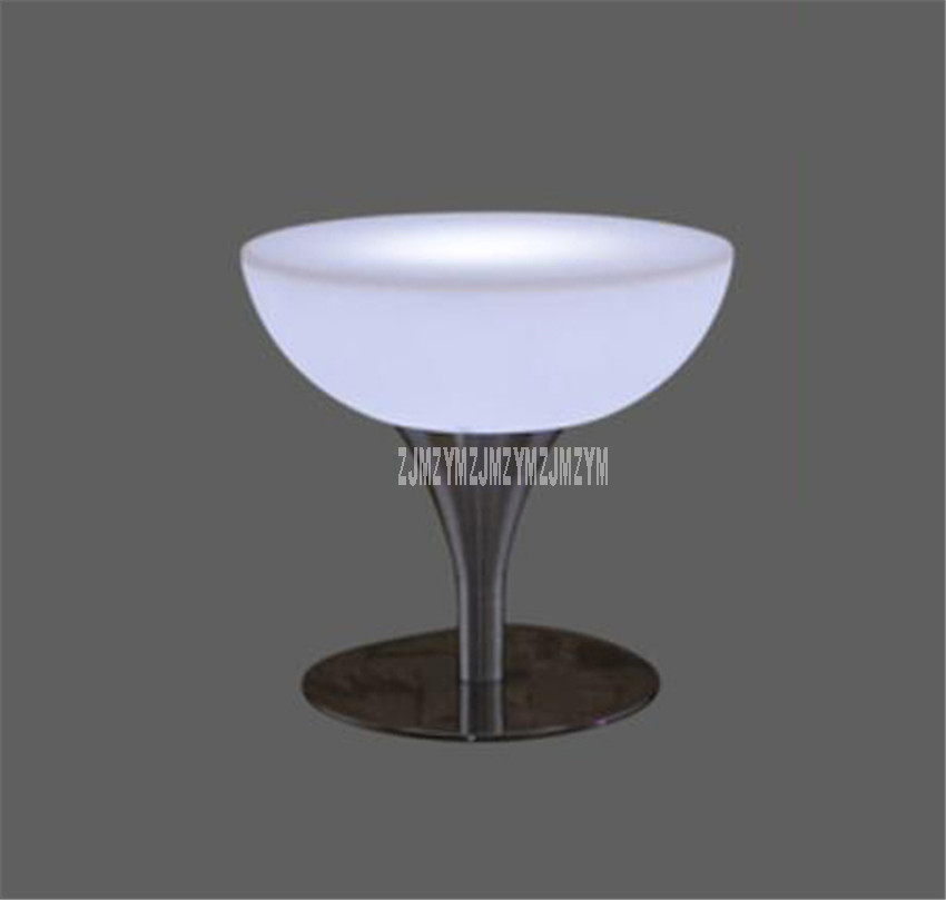 Led Luminous Bar Table Simple Round High Foot Creative Cocktail Bar Table For Night Club Coffee Shop Creative Lighting Furniture