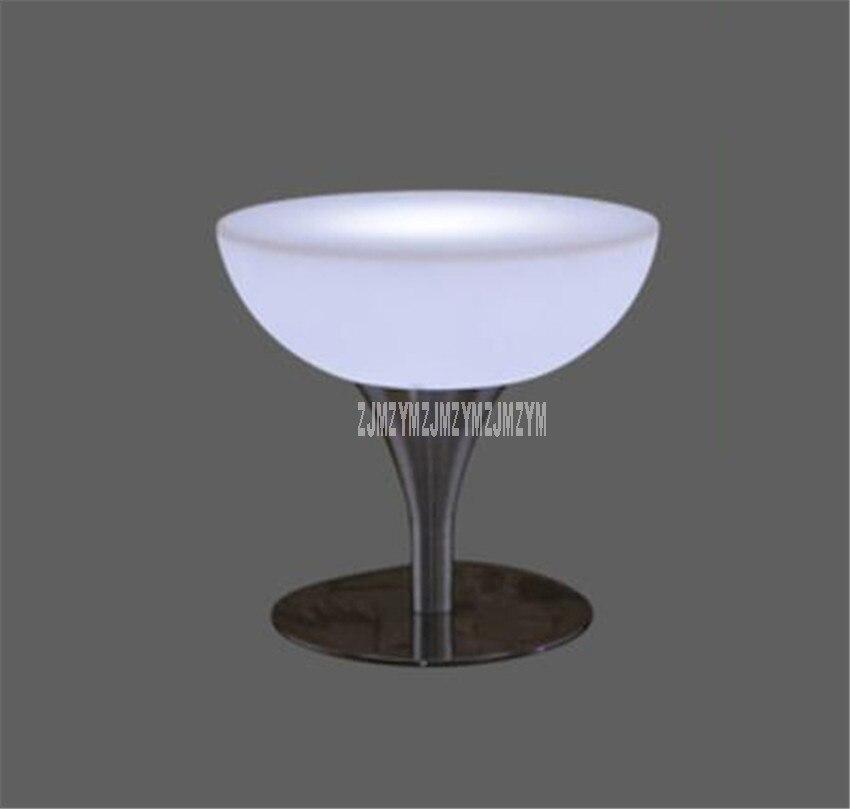 Led barre lumineuse Table Simple ronde haut pied créatif Cocktail Bar Table pour boîte de nuit café magasin créatif éclairage meubles