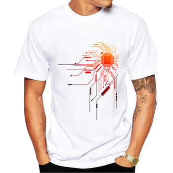 2020 Computer CPU Core Heart T-Shirt Men's GEEK Nerd Freak Hacker PC Gamer Tee Summer Short Sleeve T Shirt Asian Size
