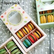 Macarons-Box Dessert-Shop Window Portable Containers Storage-Case Party-Favors 10pcs