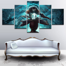 5 Panel Canvas Print Game Poster DotA 2 Kunkka Pirate Ship Sword Weapon Wall Art Home Decor Painting Artwork Framework