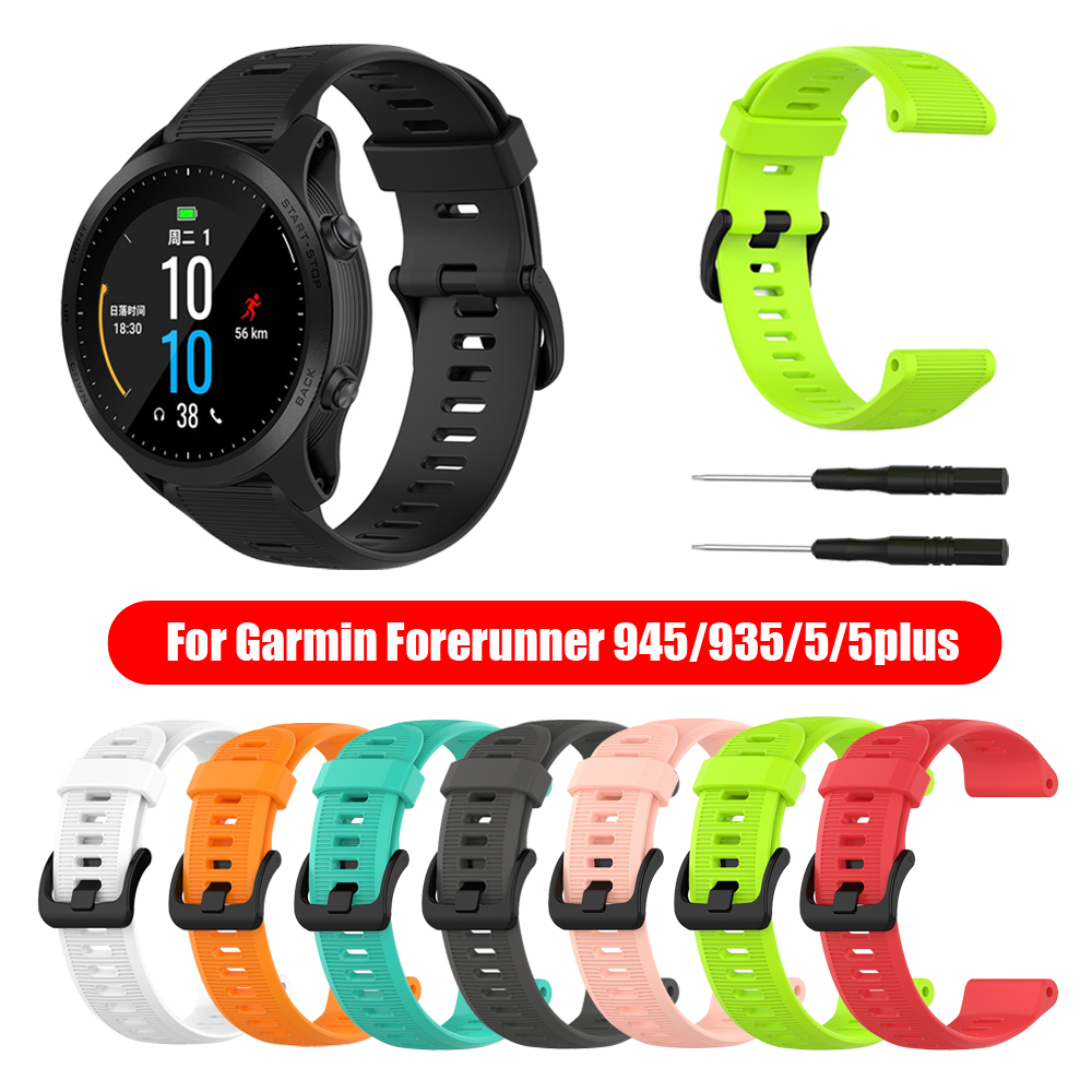 New Fashion Sports Silicone Watch Band Bracelet Strap For Garmin Forerunner 945 935 Fenix 5 Plus Replacement Wristbands Soft