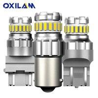 2 pièces 1156 BA15S P21W LED T15 W16W P27W 7440 W21W W21/5 W LED Ampoule 1157 bay15d P21/5 W LED De Signal Automatique Lampe De Frein De Voiture Inversée Lumière