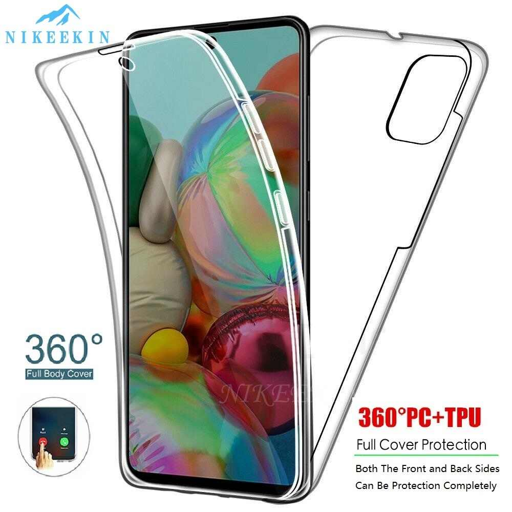 360 Full Body Case Voor Samsung A31 M31 M21 A71 A51 5G A10S A20E A30S M30S A50S Clear Telefoon cover Voor Galaxy A21S A41 A01 A11 A9S