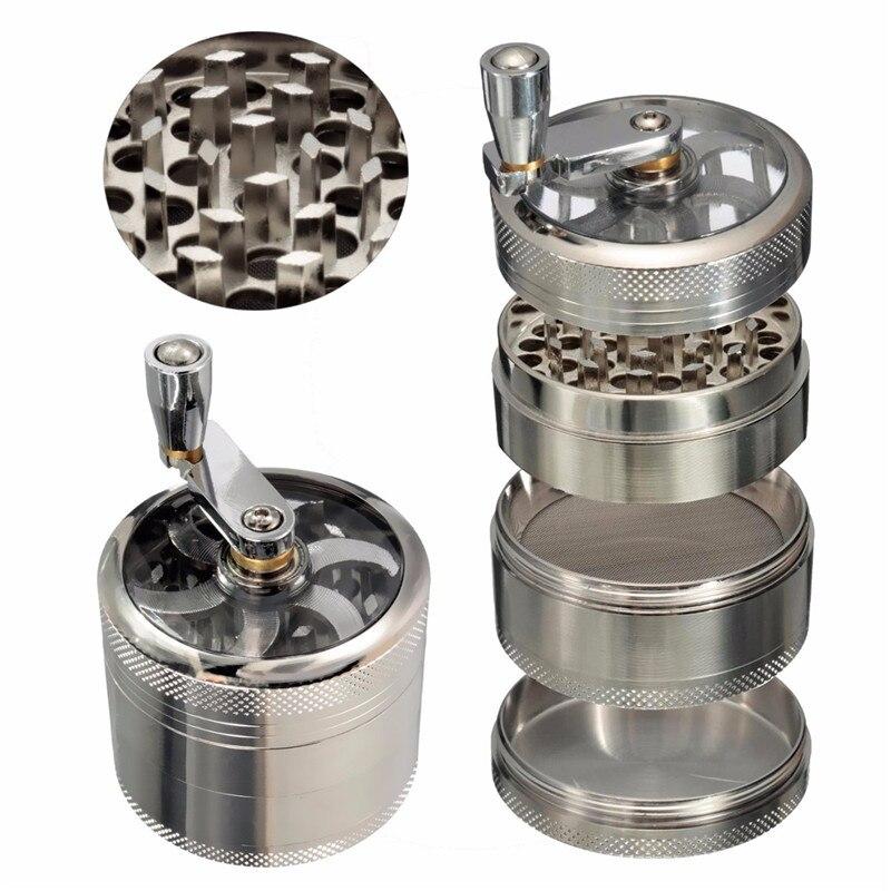 4-layer Aluminum Herbal Herb Tobacco Grinder Smoke Grinders grinder weed  herb grinder Cigarette Accessories