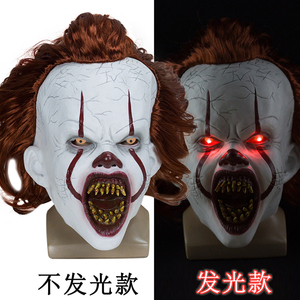 Image 4 - Маска Стивена Кинга это маска пеннивайз ужас клоун Джокер маска клоуна реквизит для костюма на Хэллоуин