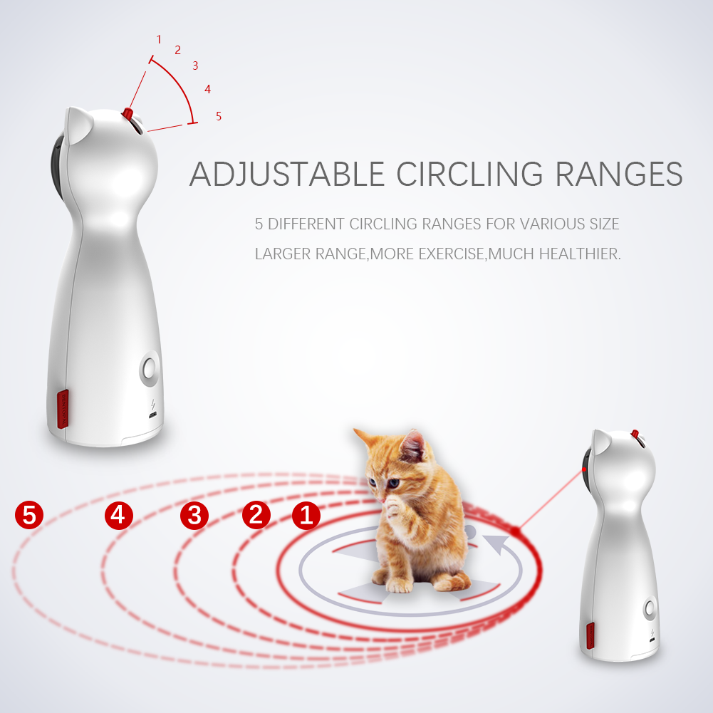Gato automático brinquedos interativos inteligente provocação animal de estimação led laser engraçado modo handheld eletrônico pet para todos os gatos laserlampje kat 2