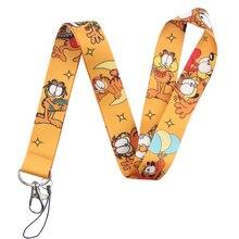 Cat-Lanyard Neck-Strap for Keys Cartoon Phone-Holder Kids with Student Badge DIY Animal