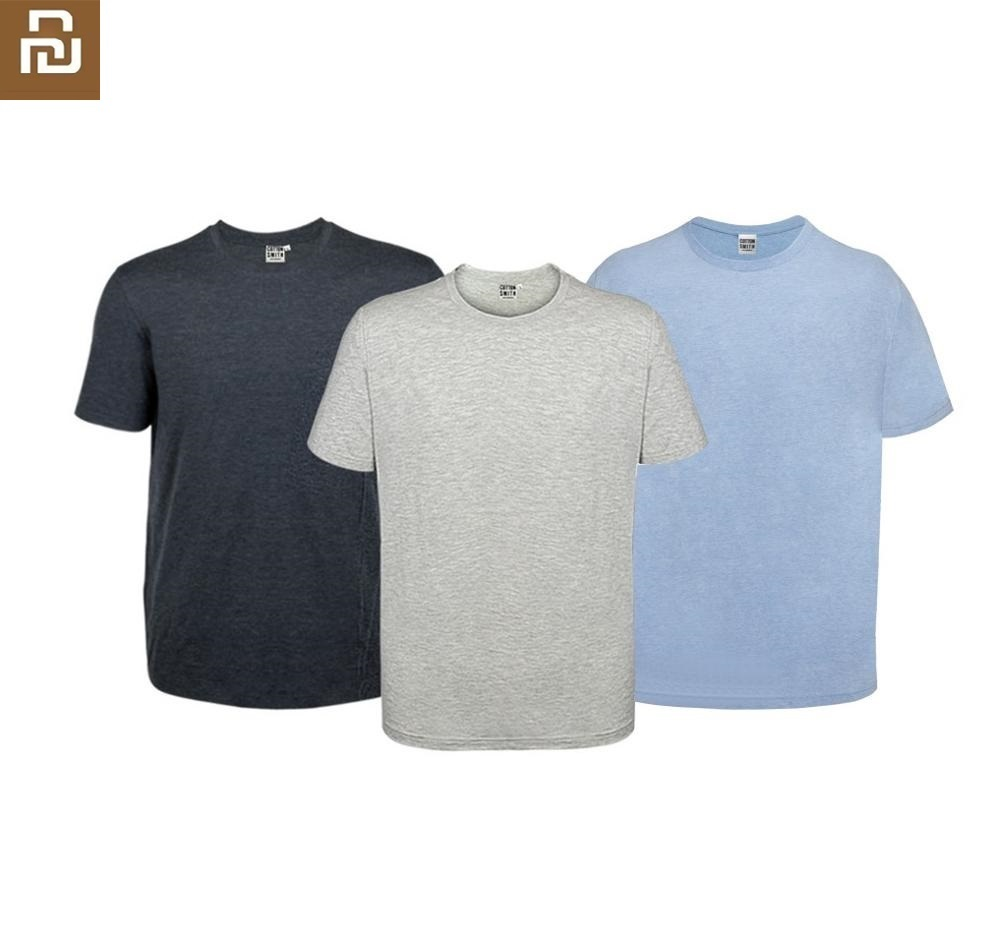 Youpin Cottonsmith Man Home T-shirt 2pcs Loose Comfortable Soft Refreshing Breathable Short Sleeve Sweatshirt Sportswear Summer