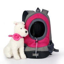 Outdoor pet backpack,  portable travel bag, front dog mesh double shoulder backpack