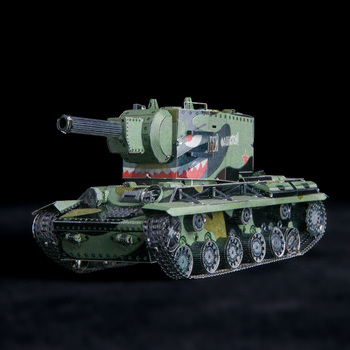 PMA MU Art Mold 3D metal Model DIY Soviet Tank KV2 Super tank 3D Laser Cutting Jigsaw Model Puzzle Toys for Adult printio soviet tank