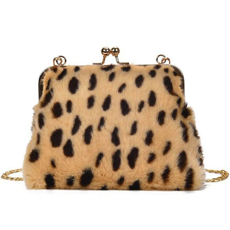 2019 Solid Women's Shoulder Bag Female Handbag Small Totes Designer Messenger Fashion Chain Hasp Leopard Clutch New Women Bags