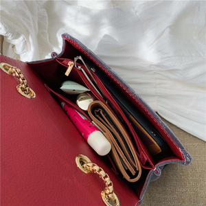 Image 5 - 2019 Winter Women Plaid Shoulder Bag Chain Messenger Bag Big Famous Brand Designer Classic Fashion Female Handbag Cross Body Bag