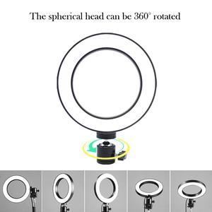 Image 4 - Dimmbare LED Ring Licht Kamera Foto Studio Fotografie Video Make Up Ring Lampe für Youtube VK Selfie Handy mit Stativ