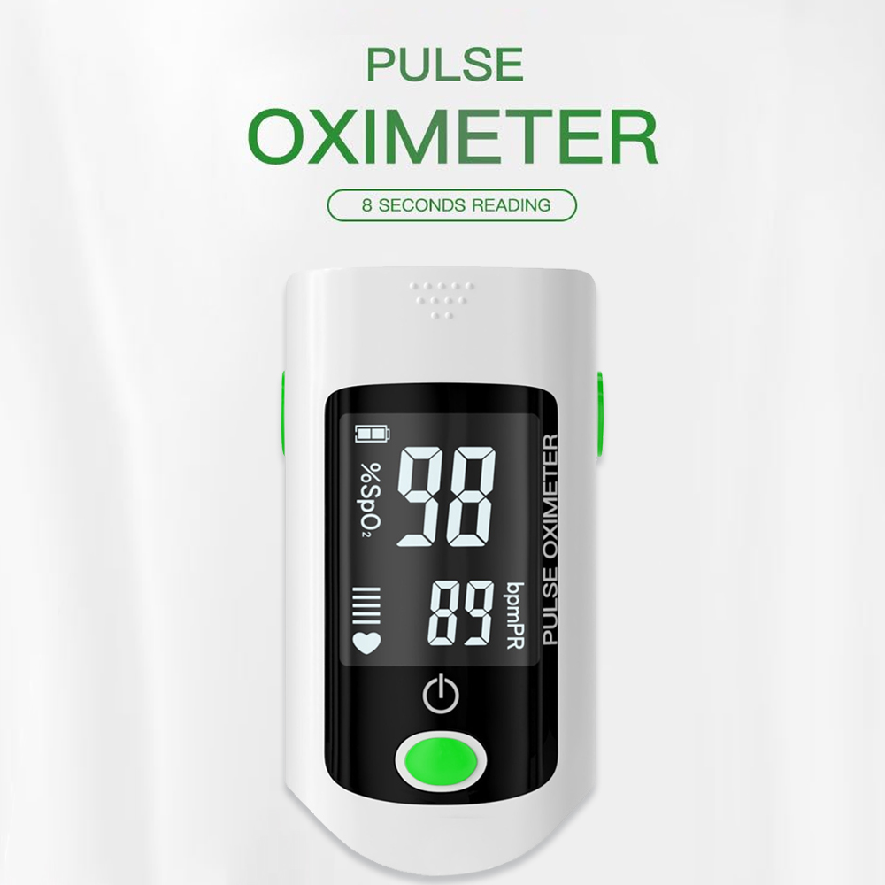 Blood Oxygen Finger Pulse Digital Fingertip Oximeter Oxygen Saturation Meter Finger Monitor CE Portable Oximetro (No Battery)