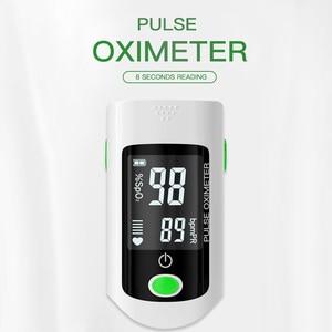 Blood Oxygen Finger Pulse Digital Fingertip Oximeter Oxygen Saturation Meter Finger Monitor CE Portable Oximetro (No Battery)(China)